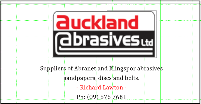 Sponsor - Auckland Abrasives