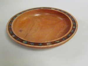 Platter with Paua Inlay - Tasmanian Blackwood - Terry Bennett
